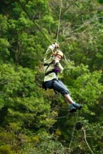 Ziplining Belize Jungle