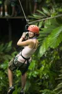 Ziplining on Ambergris Caye