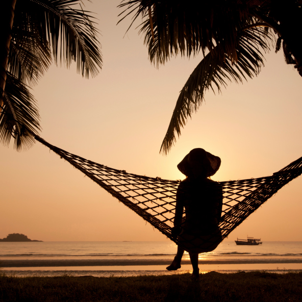 Beach at sunset in Hammock